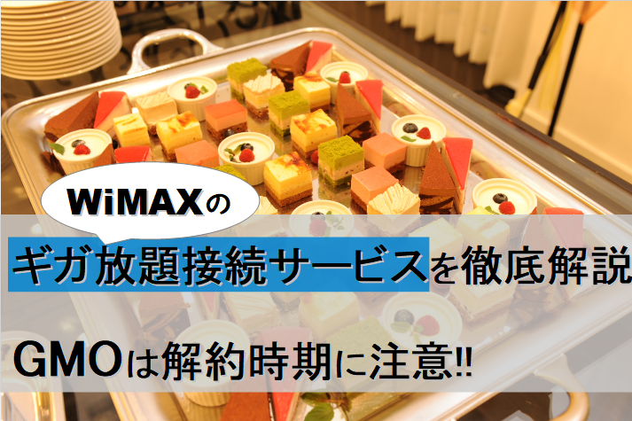 WiMAXギガ放題接続サービス