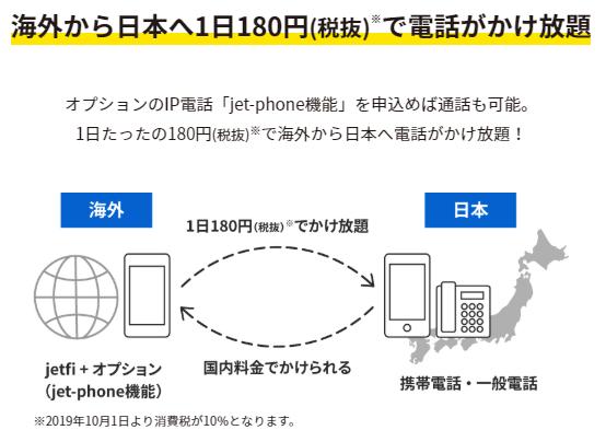 日本への電話がかけ放題