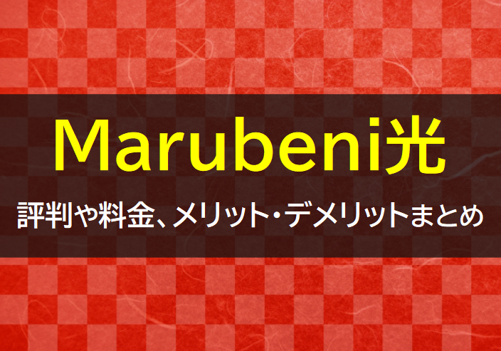 Marubeni光の評判や料金
